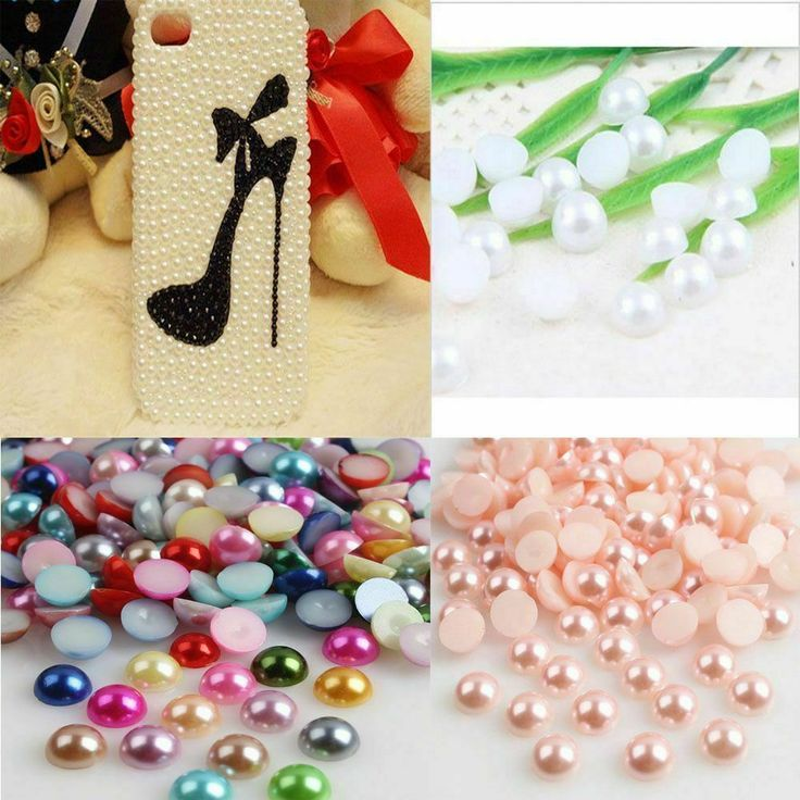 These Look Great On Your Nails To Add A Touch Of Bling Size 2mm 3mm 4mm 5mm 6mm 7mm 8mm These Are Beaut Acrylic Pearl Round Beads Scrapbooking Embellishments