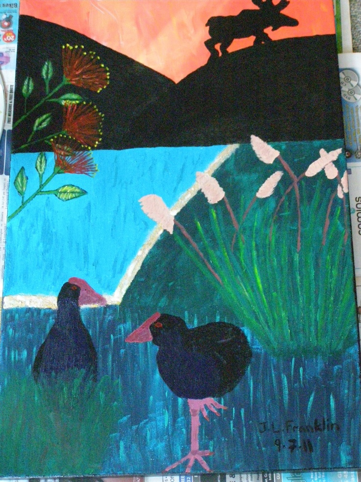New Zealand art with a Swedish twist! Painted by J L Franklin 2011