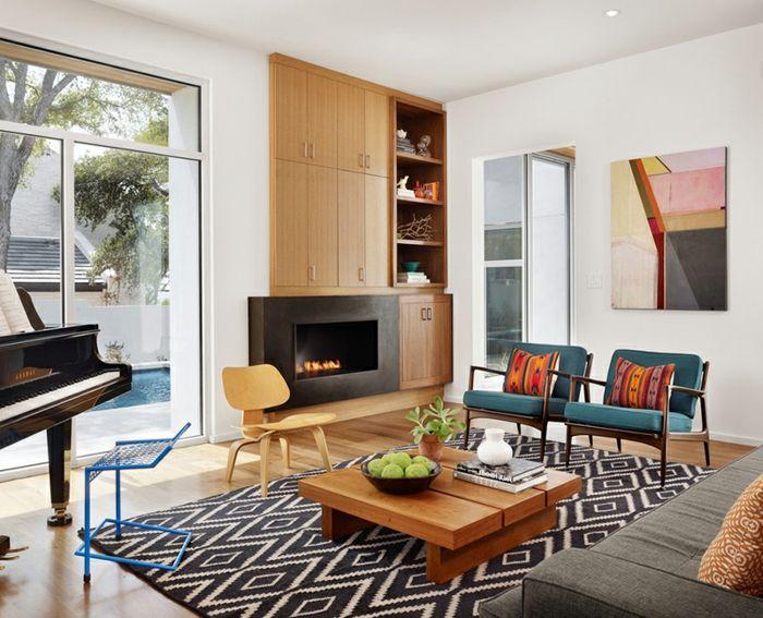 Le fauteuil scandinave - confort, utilité et style à la une - wohnzimmer modern schwarz wei