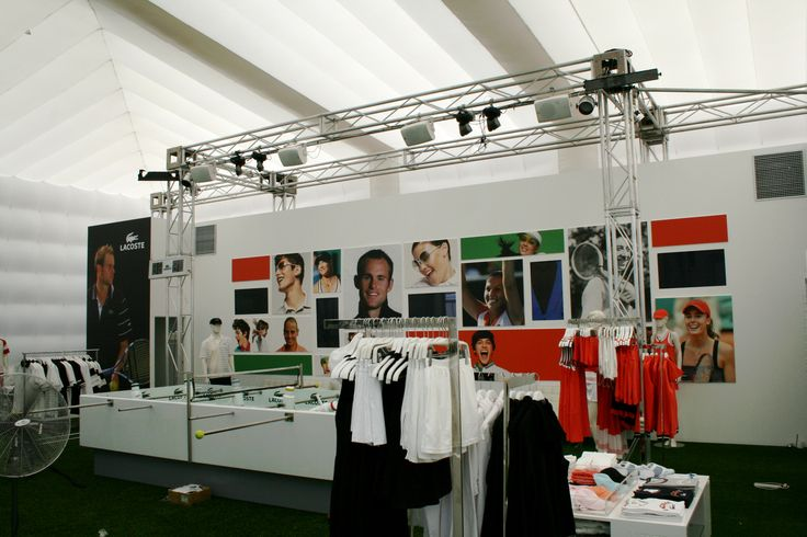 #Lacoste pop-up shop inside a large inflatable cube with lighting.  #EvolutionDome #PopUp #PopUpShop #TemporaryShop #TemporarySpace #InflatableCube #BlowUp #Inflate #EventStructure #Promo #Promotional #Branding #BrandAwareness