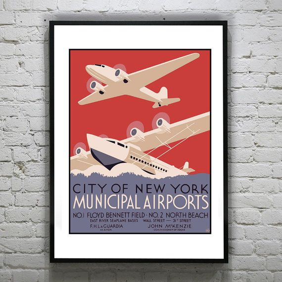 Hey, I found this really awesome Etsy listing at https://www.etsy.com/listing/119780381/1920s-vintage-city-of-new-york-airports