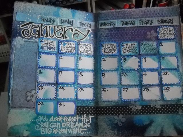 calendar page ~ joanne sharpe