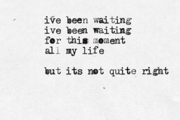 If I could describe my life in 1 line, this would be it.  lazy eye. silversun pickups.