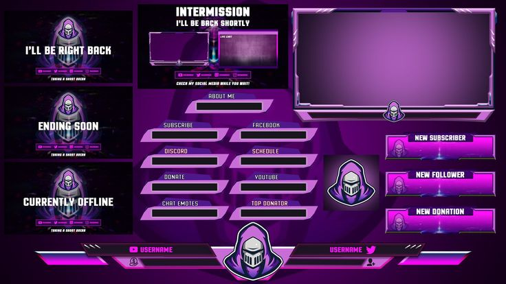 Twitch Overlays Designs Alerts and Stream in 2020