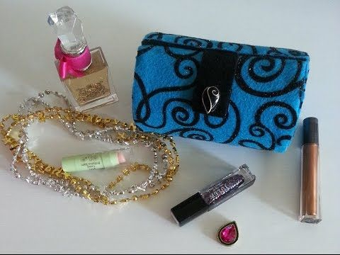DIY Clutch Purse | Makeup storage Box - Recycling salt box - YouTube