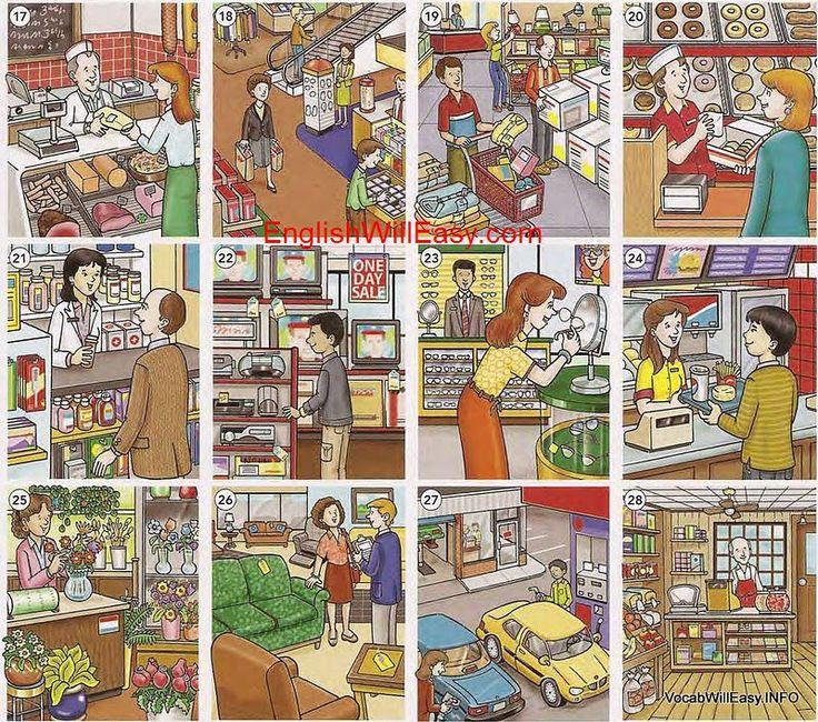 in de winkel