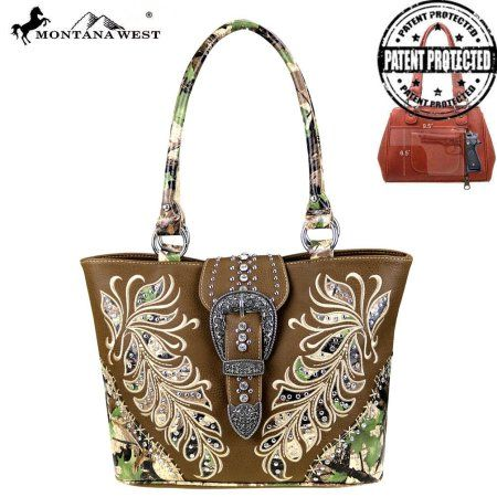 HF14G-8317  Montana West Camouflage Collection Concealed Handgun Tote