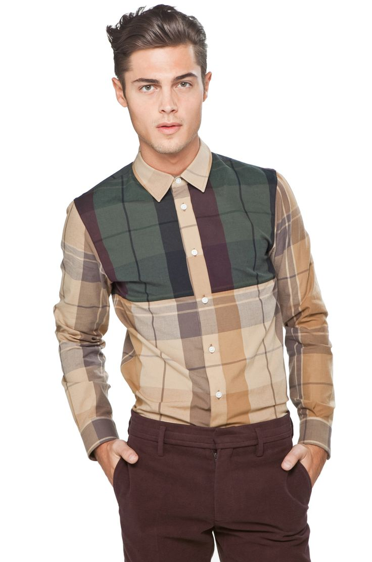 M :: Marc Jacobs | Grand Plaid Shirt in New Beige Multi