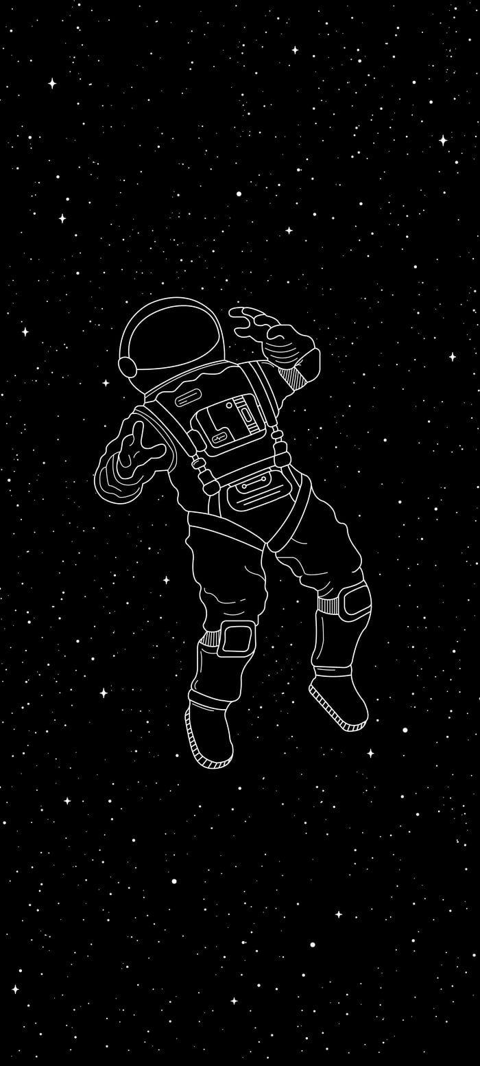 Cosmonaut Black Aesthetic Wallpaper Dark Wallpaper Iphone Space Drawings