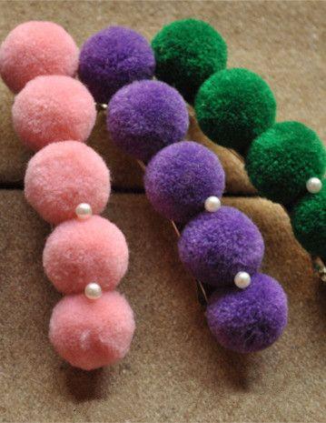 Fluffy Ball Hair Clip_Headwear_Accessories_Digbabies