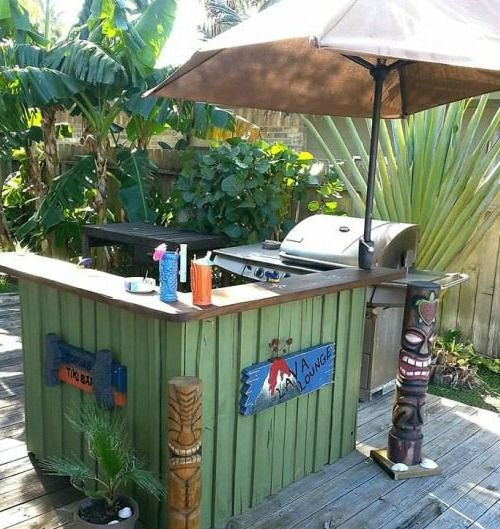 completely coastal beach tiki bar ideas for the home backyard - Patio Bar Ideas