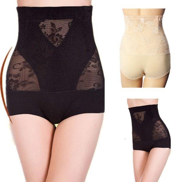 Mujeres posparto corsé que adelgaza los pantalones de la ropa interior del abdomen de la alta cintura