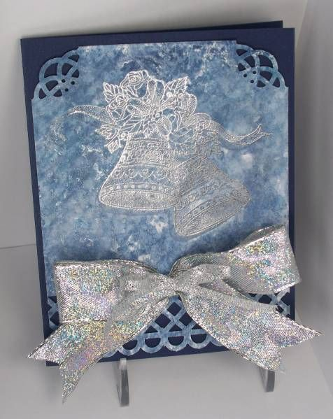 ziploc smoosh  wish Silver bells and bows by imastampin - Cards and Paper Crafts at Splitcoaststampers