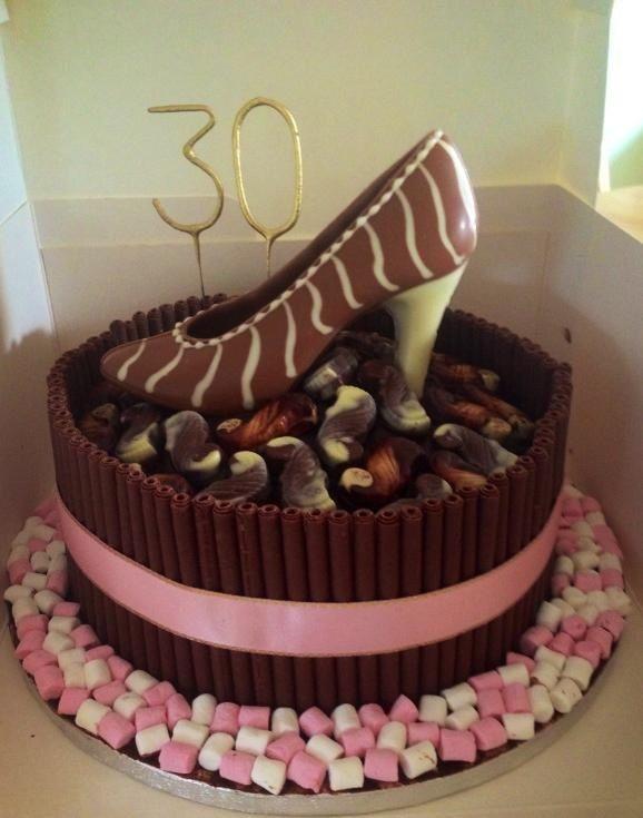 30th birthday chocolate shoe cake
