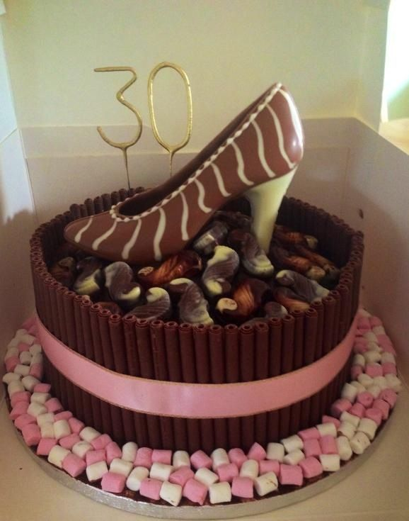 30th birthday chocolate shoe cake shoes cakes for 30th birthday cake decoration ideas