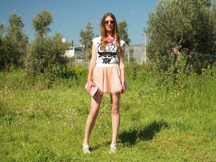 Φανταστική mfs ροζ φούστα από μουσελίνα!!! Εντυπωσιάστε με τις πιο girly εμφανίσεις!! http://myfashionstories.gr/