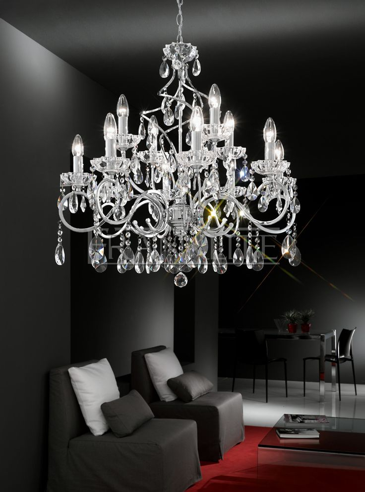 Chiffon 12 light crystal chandelier wayfair uk