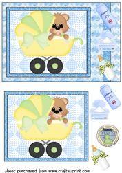 De leuke Jongen van de Baby draagt Kaart Voorzijde 4