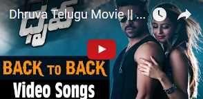 watch dhruva telugu movie back to back video songs