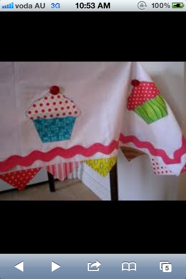 Cupcake table cloth