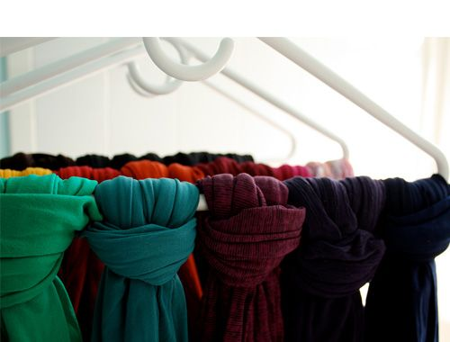 Organize tights and scarves