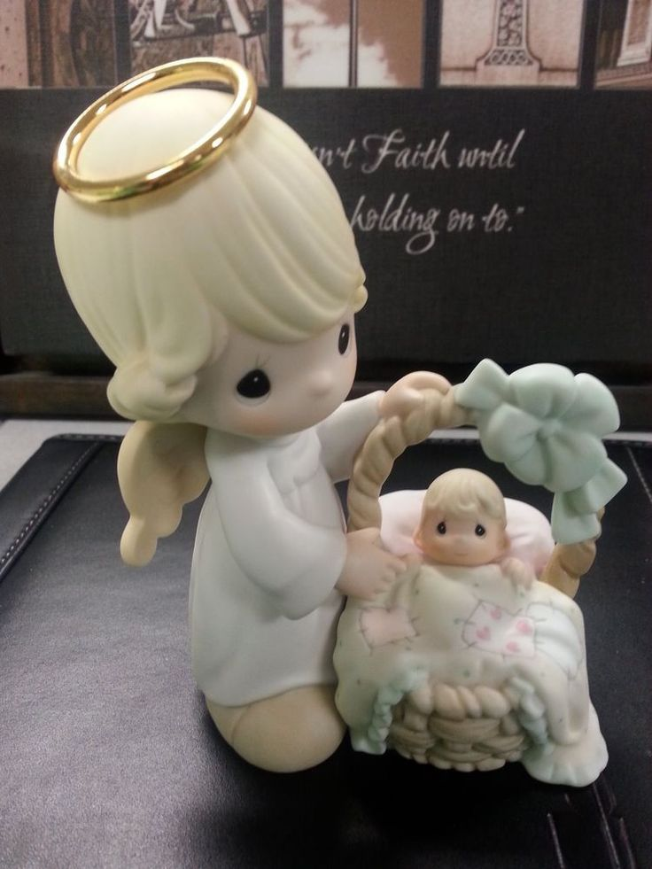Precious moments child gift Lord God #113962 baby angel basket
