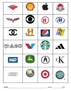 30 Printable Logo Quiz Worksheet