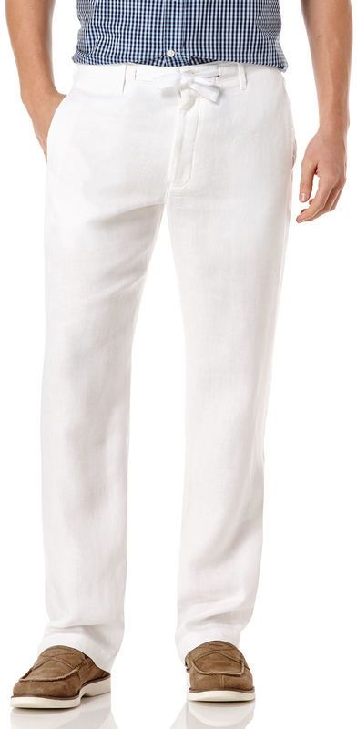Linen Drawstring Pant