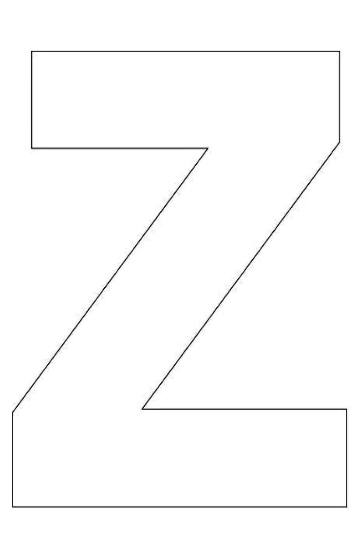 Printable Letter Z Template! Letter Z Templates are perfect for