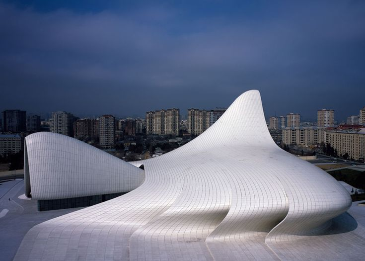 Heydar aliyev center baku azerbaijan 2012 photograph for Arquitectura zaha hadid