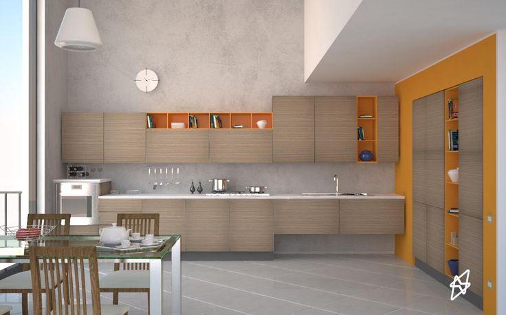 Render Cucina interno 3d studio max - vray - photoshop