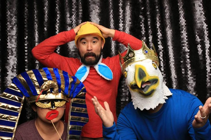 A Black Sequins backdrop is perfect for those formal occasions when you need to add a little chic with your Vancouver photo booth.  A little goofy doesn't hurt as well!  Book us to be your next photo booth rental in Vancouver!