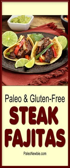Happy Cinco de Mayo everyone! You'll love this hearty and healthy fajitas recipe – even the tortillas are gluten-free! This is one excellent looking Paleo Item!