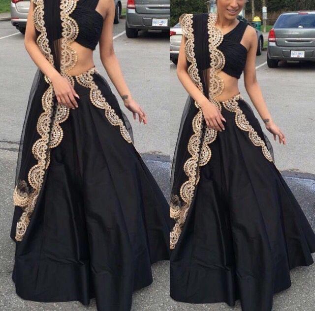 Black lengha; love the blouse style