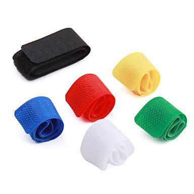 multi-colorido velcro organizador de gerenciamento de cabo (6-pack) – BRL R$ 5,15