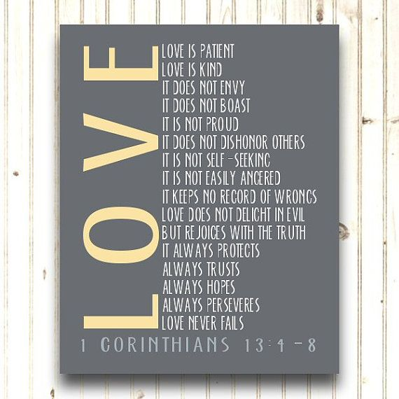 Love Never Fails.... 1 Corinthians 13:4-8