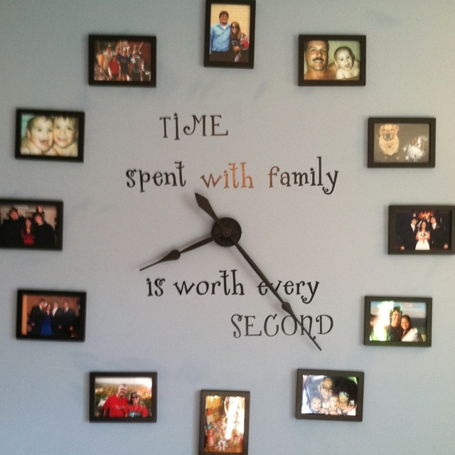 Our photo wall clock