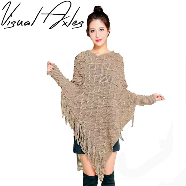 Find More Scarves Information about [Visual Axles] 2017 New Fashion Knitting Poncho Women Winter Solid Color Sweater Cardigan Poncho Sweater,High Quality winter solider,China poncho women winter Suppliers, Cheap winter poncho women from Funky Scarf Store on Aliexpress.com