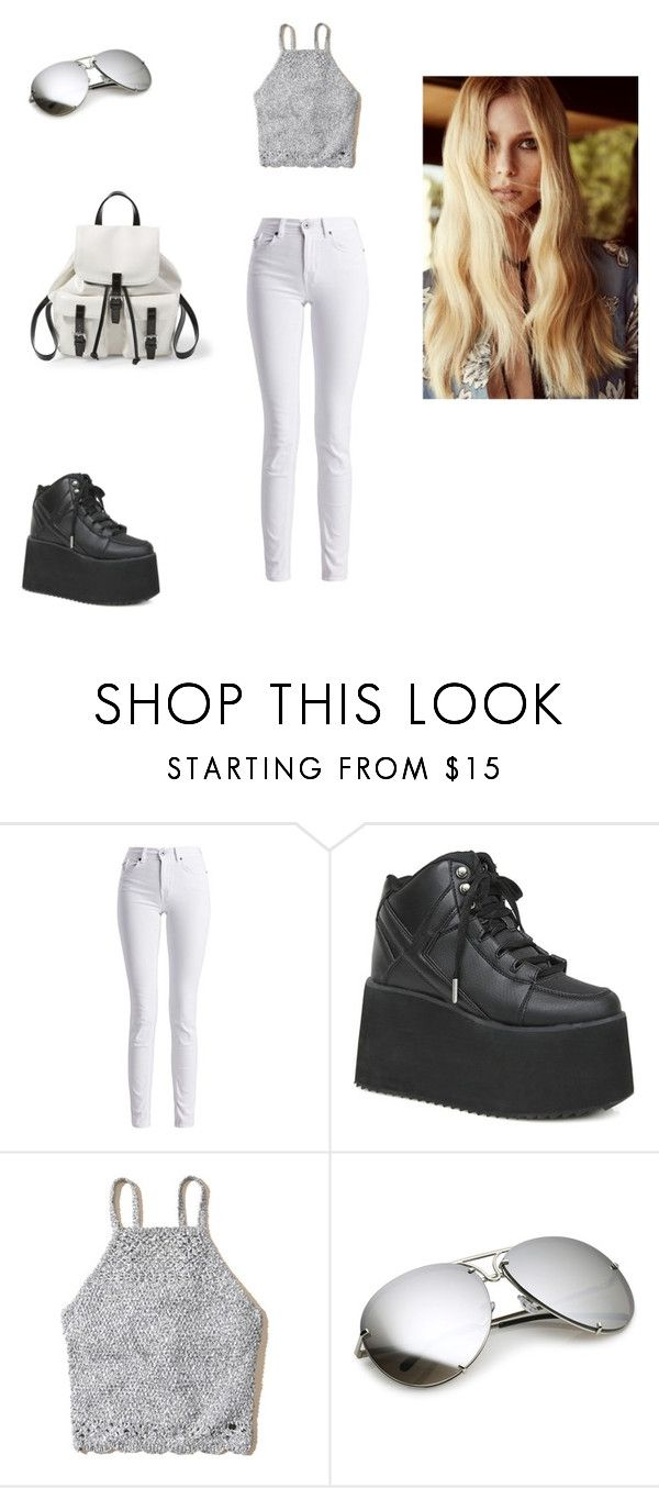 """Summer Outfit"" by elenatsr on Polyvore featuring Barbour International, Y.R.U., Hollister Co., Steve Madden and For Love & Lemons"