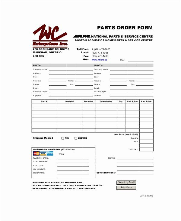 Parts Request Form Template In 2020 Reference Letter Template