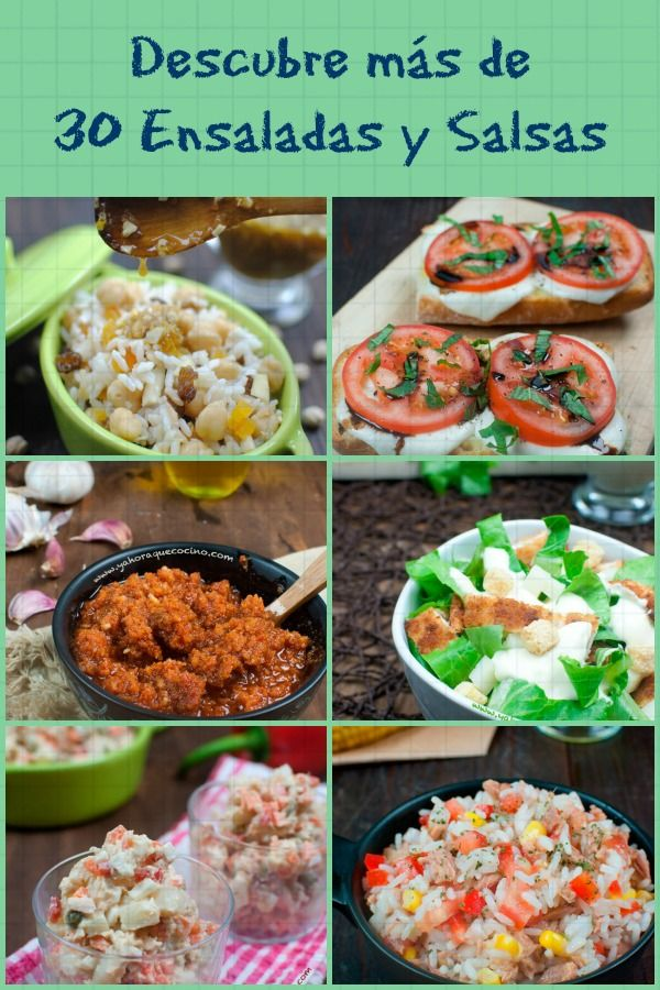 Más de 30 ensaladas y  Salsas para disfrutar en verano #singluten #sinlactosa