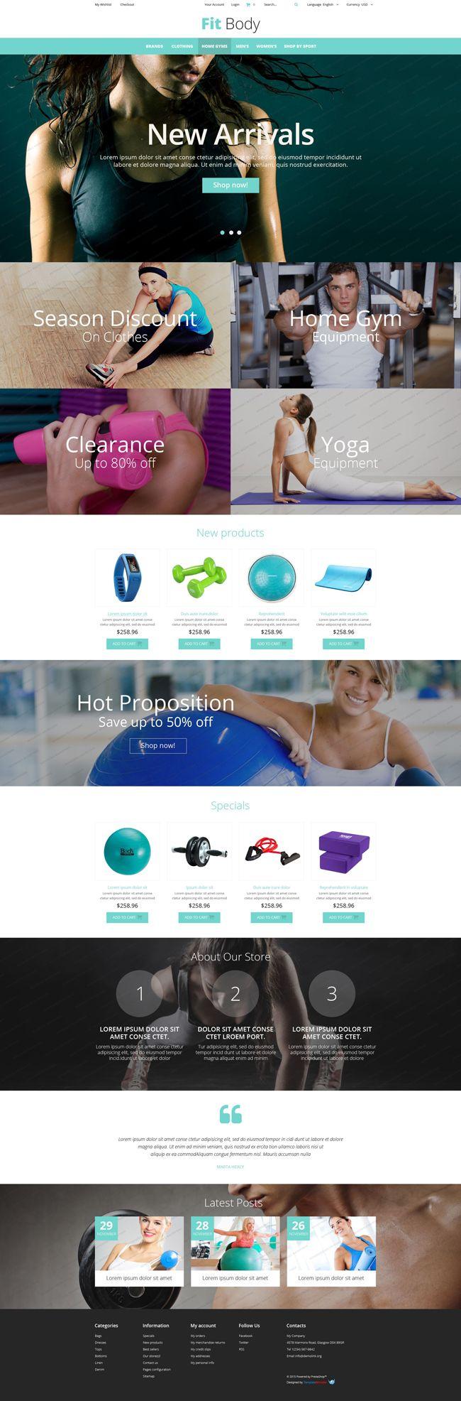#Fitness - #Magento Website Theme (#PSD, #HTML5, #CSS3, #JS)