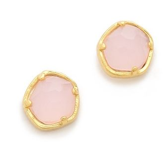 Tai Jewelry Front-Facing Rose Stone Earrings