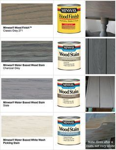 Pinner said: For the love! What would I do without Pinterest?? STAIN : Minwax Gray Wood Stains  