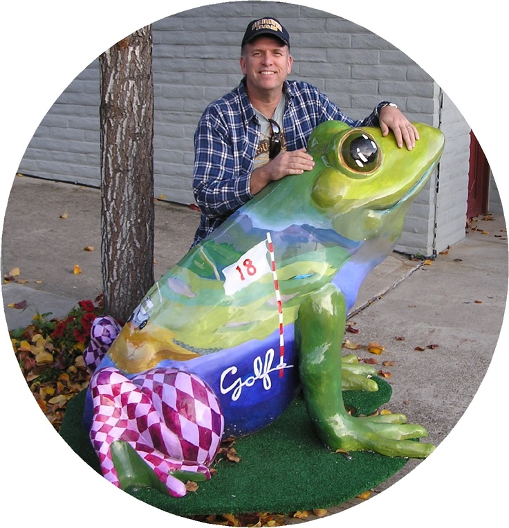 The Celebrated Jumping Golf Frog of Calaveras County (Angels Camp, CA): County Angels, Area Attractions, Calaveras County, Fiberglass Animals, Celebrated Jumping, Golf, Gold Country, Angels Camp Before