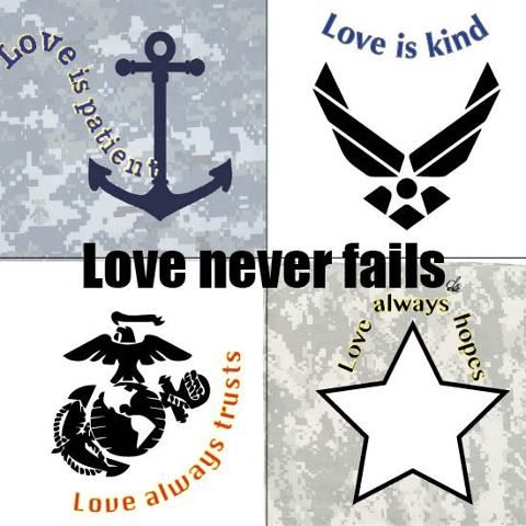 That's fantastic.  Love verses from 1 Corinthians in Military-form :-)
