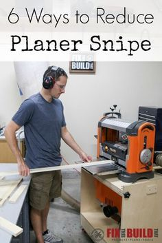 Get 6 ways to reduce planer snipe and help you have clean boards for your woodworking projects. And if you don't know what planer snipe is then come and learn all about it!