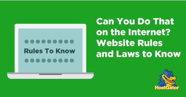 Website Rules and Laws to Know