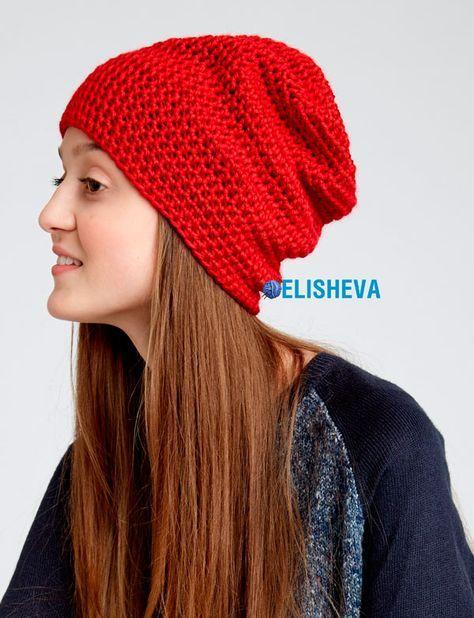 Шапка от Caron из полустолбиков: простое вязание крючком для начинающих | Блог elisheva.ru