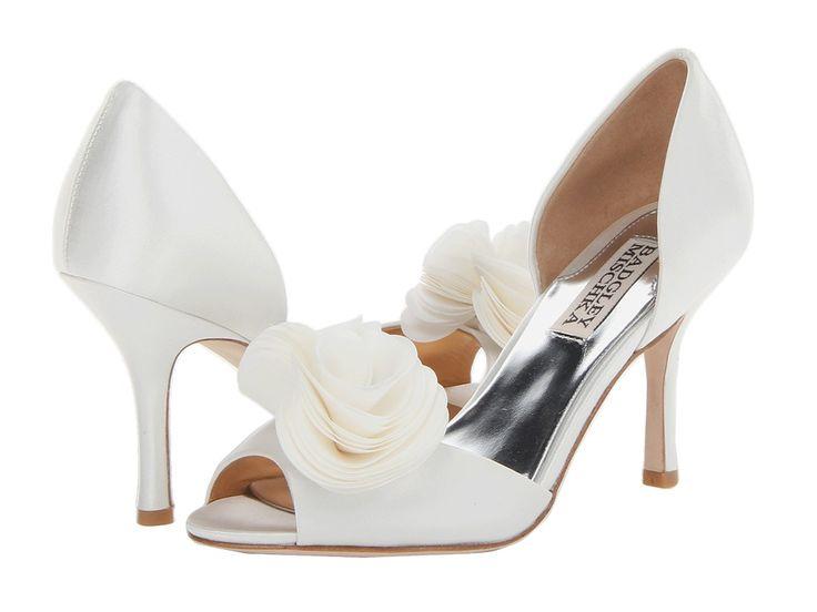 Badgley Mischka Thora (White Satin) High Heels